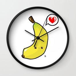 Baby Banana Kawaii Wall Clock