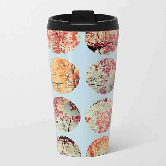 Cloud Inkblot Metal Travel Mug