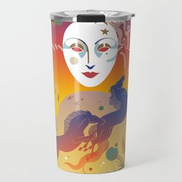Mask Tableau Travel Mug