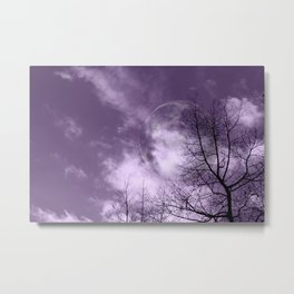 Purple Night  - JUSTART © Metal Print