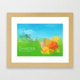 Pooh: Braver, Stronger, Smarter Framed Art Print