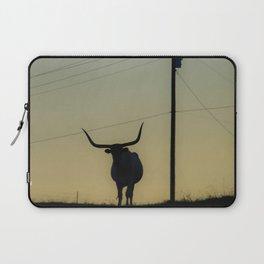 Longhorn at Sunset Laptop Sleeve