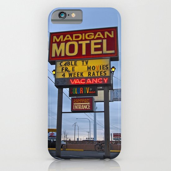 Classic motel sign iPhone & iPod Case
