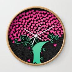 Tree Of Love  Wall Clock