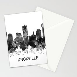 Knoxville Tennessee Skyline BW Stationery Cards