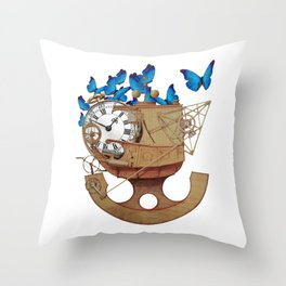 A Time Machine Throw Pillow