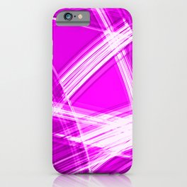 Darkened mirrored edges with crimson diagonal lines of intersecting luminous bright energy waves iPhone Case