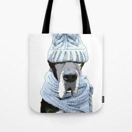 Great Dane Winter is Here Tote Bag