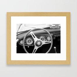 Austin Healey 3000 steering wheel  Framed Art Print