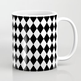 Classic Black and White Harlequin Diamond Check Coffee Mug