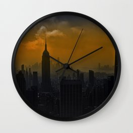 New York red Wall Clock