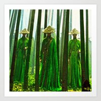 china Art Prints featuring China  by Saundra Myles