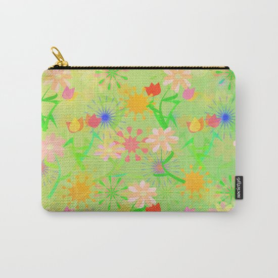 Spring Riot Pattern Carry-All Pouch