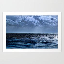 Blue Ocean Ripple Art Print