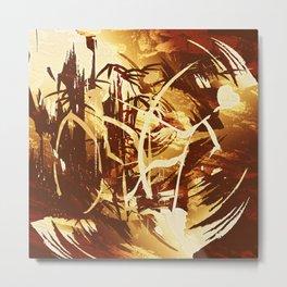 Afrikanische Krieger Metal Print