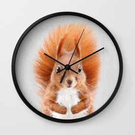 Squirrel 2 - Colorful Wall Clock
