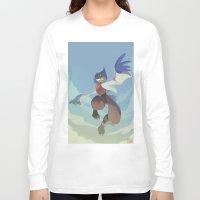 starfox Long Sleeve T-shirts featuring Falco Lombardi  by Taylor Barron