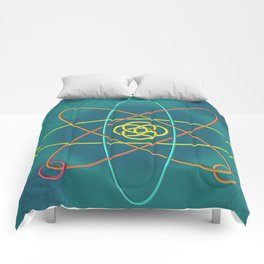 Line Atomic Structure Comforters