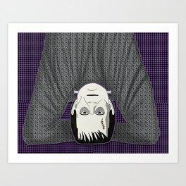 Frankenstein head stand Art Print