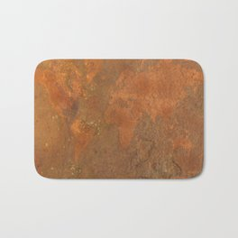 Rock Map 1 - Organic World Map Series Bath Mat