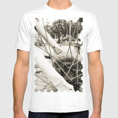Across the axes Mens Fitted Tee White MEDIUM