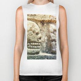 Mayan Stone Skulls Biker Tank