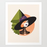Classic Halloween Witch Art Print