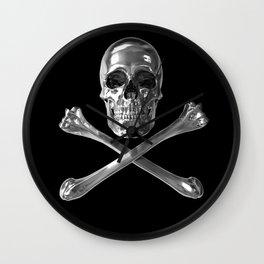 Jolly Roger Skull Wall Clock