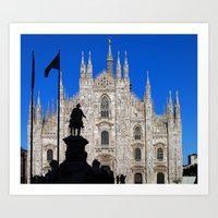 milan Art Prints featuring Milan by Kallian