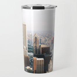 Chicago Illinois Aerial View Travel Mug