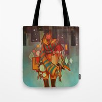 loish Tote Bags featuring Frozen Lemons by loish