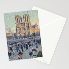 "Maximilien Luce ""The Quai Saint-Michel and Notre-Dame"" Stationery Cards"