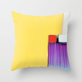Blue Strings Throw Pillow