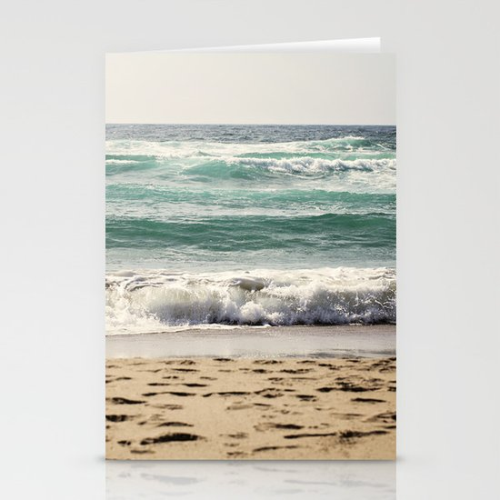 Walking In The Sand Stationery Cards