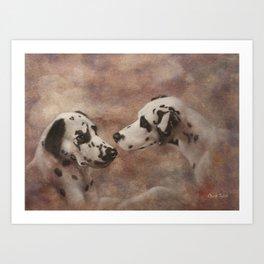 A Dalmatian Weekend 1 Art Print