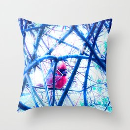 Cardinals and angels Throw Pillow
