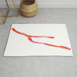 Keuka Lake Watercolor-Orange and Pink Rug