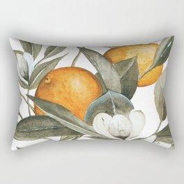Blooming Citrus Watercolor Rectangular Pillow