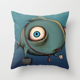 work fish Throw Pillow