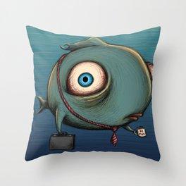 work fish Throw Pillow