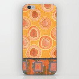 Flying Orange Circles iPhone Skin