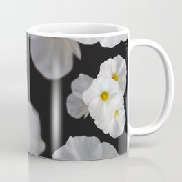 White blossom flower in pattern Coffee Mug