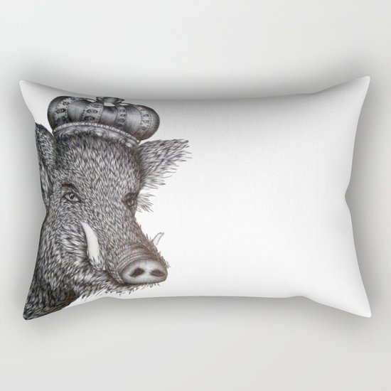 The Boar King Rectangular Pillow