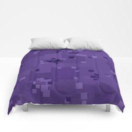 Gentian Violet Square Pixel Color Accent Comforters