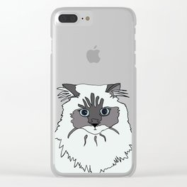 Theodore the Himalayan cat Clear iPhone Case