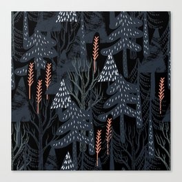 fairytale forest pattern Canvas Print