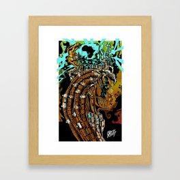 AFRIKA CUBE Framed Art Print