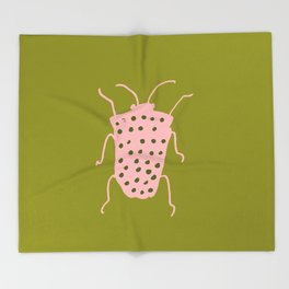 arthropod green I Throw Blanket