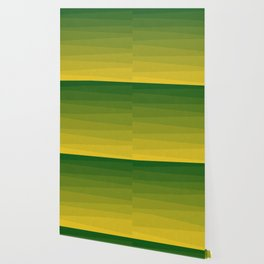 Shades of Grass - Line Gradient Pattern between Lime Green and Bright Yellow Wallpaper