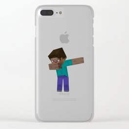 Minecraf Dab! Clear iPhone Case